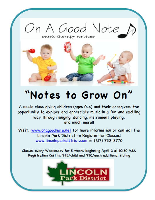 Notes to Grow on Flyer