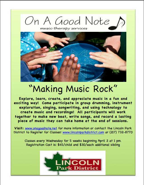 Making Music Rock Flyer