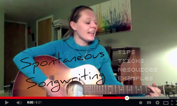 Spontaneous Songwriting - Video Blog