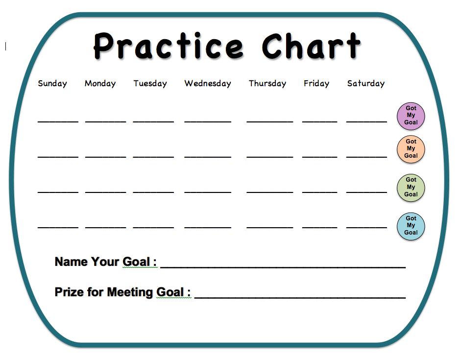 Free Printable Practice Chart