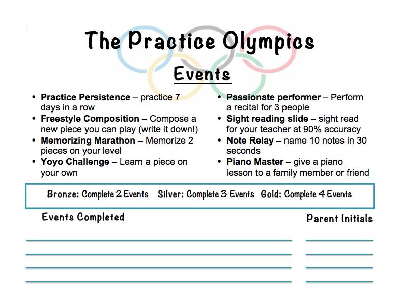 Practice Olympics - Wrap Up
